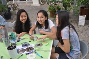 Students ran workshops