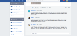 Peer Feedback on Edmodo using small groups