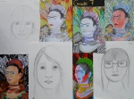 Grade 7 learnt about Frida, Van Gogh and Francis Bacon.