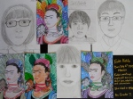 """These portraits were completed when the students were learning about """"the rules""""."""