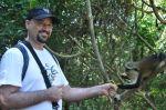 Feeding the monkeys in the Volta.