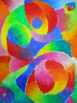 Abstract Blending With Oil Pastel