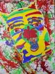 Semi-Abstract Animal on Expressionist Background