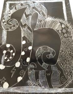 Scratch art letter - 6 of 8