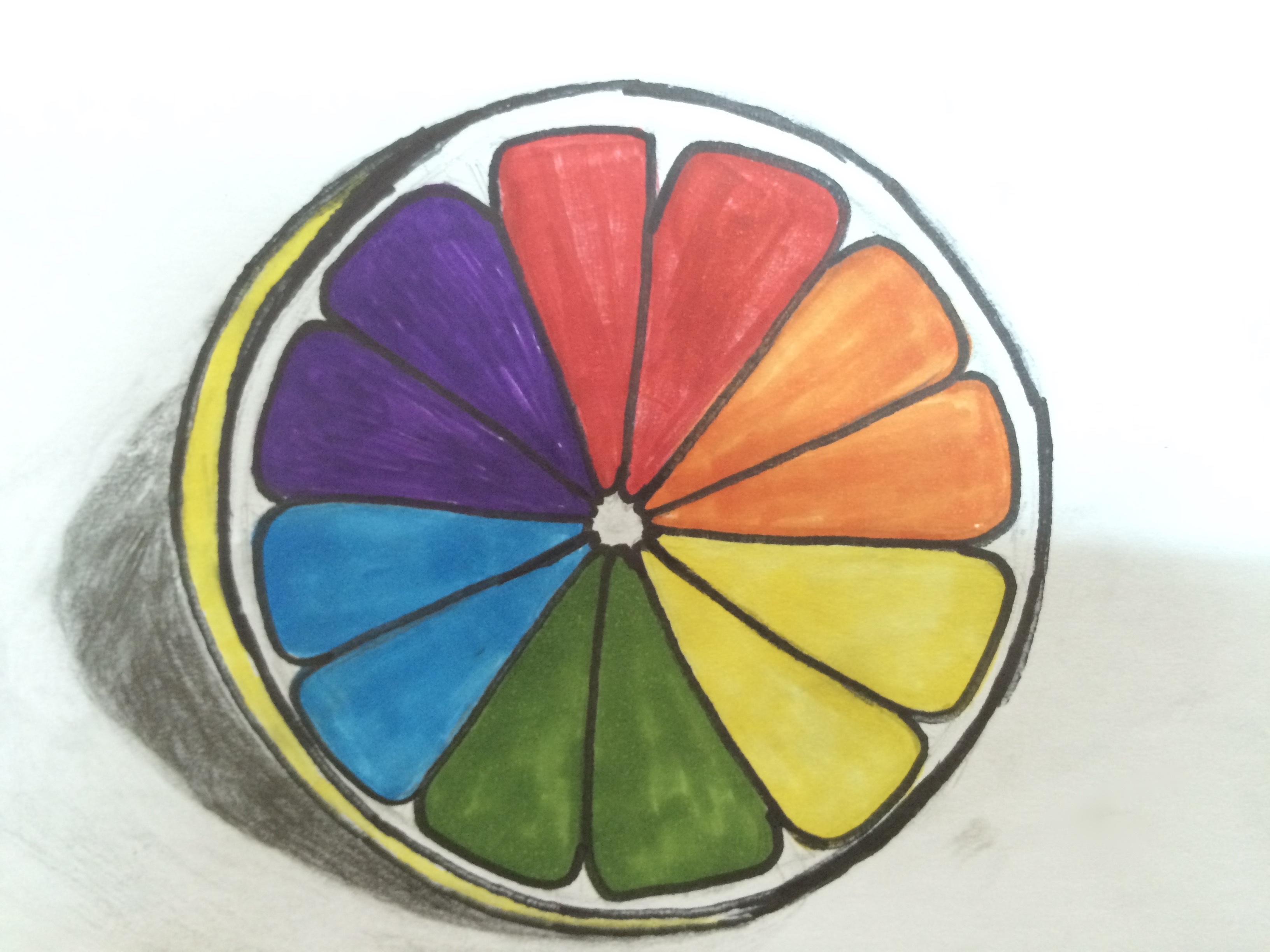 Awesome complimentary collages by grade 6 mrs jardin 39 s How does the colour wheel work