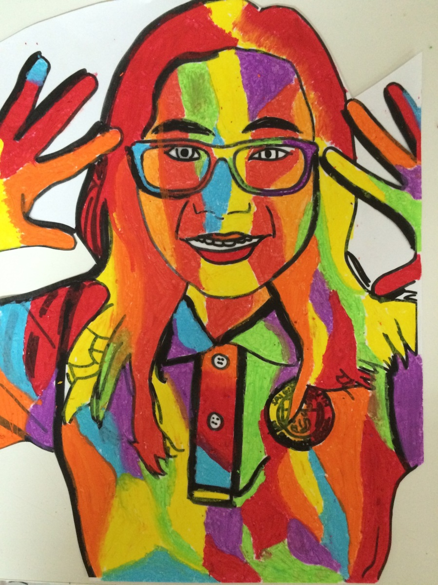 Expressionist Portraits in Grade 6