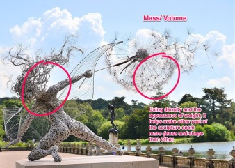 Using Skitch to annotate sculpture.